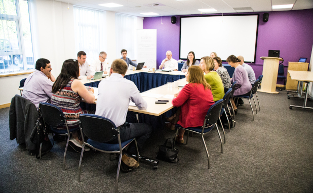 A meeting room in use at the RPS offices in Cardiff