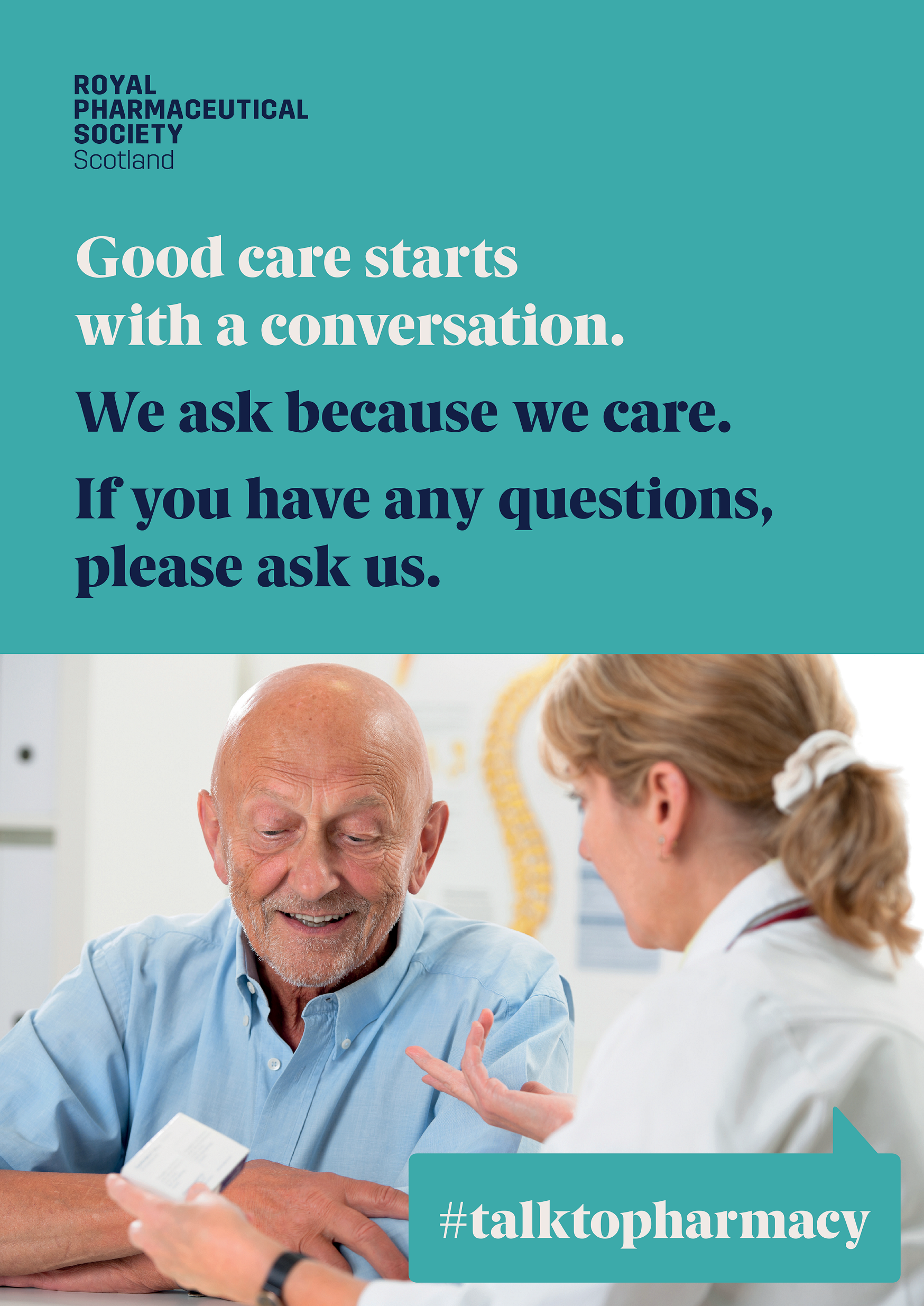 Good Care Starts with a Conversation A5 Poster